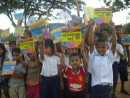 Supported children at CHAB's school